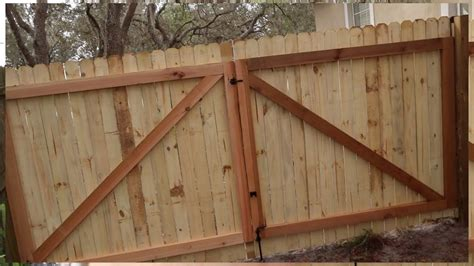 How To Build A Wooden Gate Youtube